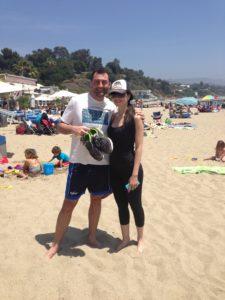 Sulla spiaggia di Mailu con Tally